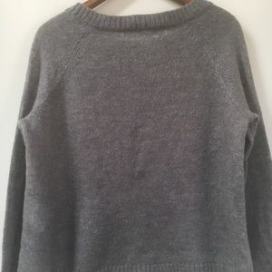 Woolrich Sweaters - WOOLRICH Wool Blend Frost Grey Owl Sweater
